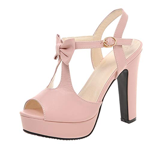 Womens Closed Toe Low Heels High Heels Bow Tie Back Sexy Ankle Strap Wedding Dress Pumps Shoes