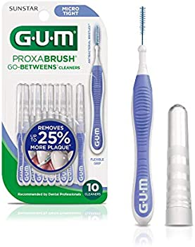 10-Count GUM 877A Proxabrush Go-Betweens Interdental Brushes