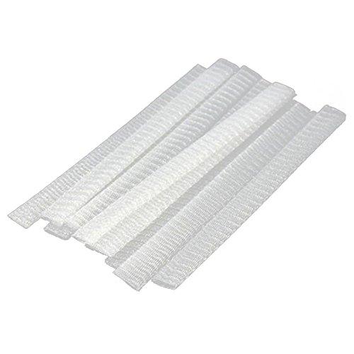 Kamenda 20 PCS Cosmetic Make Up Brushes Guards Protecteurs De Maille Couvercle Gaine Net Blanc