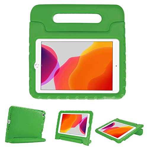 """ProCase Kids Case for iPad 10.2 8th Gen 2020 / 7th Gen 2019 / iPad Air 10.5"""" 2019 / iPad Pro 10.5, Shockproof Convertible Handle Stand Cover Light Weight Kids Friendly Case for iPad 8th / 7th -Green"""
