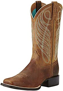 Women's Round Up Wide Square Toe Western Cowboy Boot