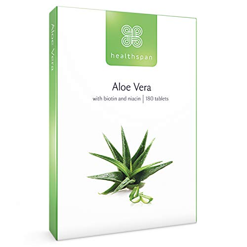 Aloe Vera 10,000mg   Healthspan   180 Tablets   Added B Vitamins   Supports...
