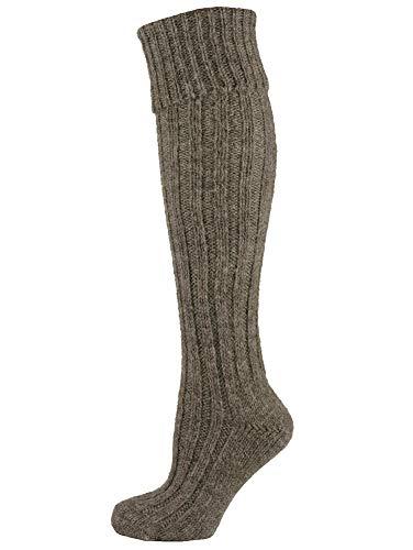 Mysocks Irische Jacob Schafwolle Socken dunkel natürlich