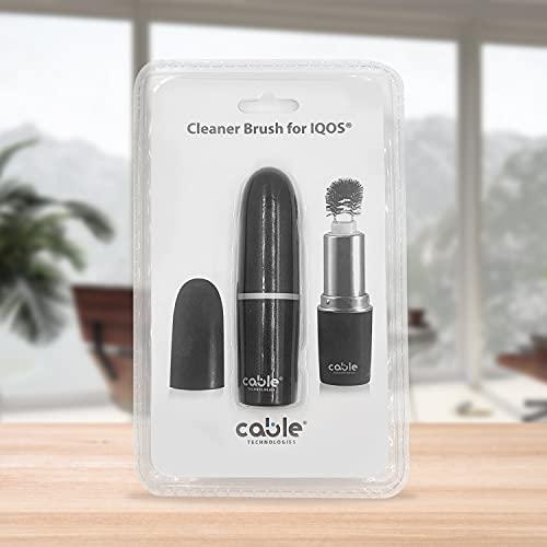 CABLE TECHNOLOGIES Cleaner Brush, Dispositivo di Pulizia Professionale compatibile con iQOS 2.4 2.4 Plus 3 3 Duo, Spazzola per rimozione completa residui