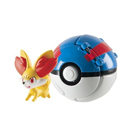 TOMY Juguete Pokeball Throw N Pop T18874, Figura de Pikachu
