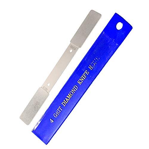 Pocket Hone Diamond Knife Sharpening Stone Whetstone 4 Grits #120/180/240/320 for Christmas Gift - 1 Pack