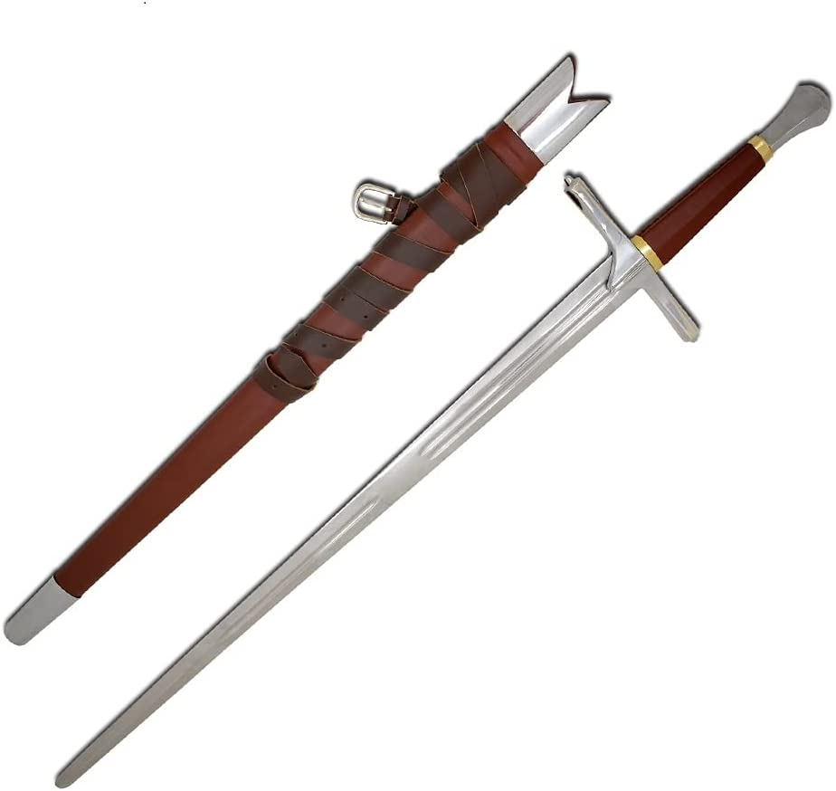 Medieval Warrior Austin Mall Late Quality inspection Middle Ages Hand Tan Full Half and Sword A
