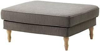 Ikea Ottoman, Nolhaga gray-beige, light brown/wood 2202.111120.3422