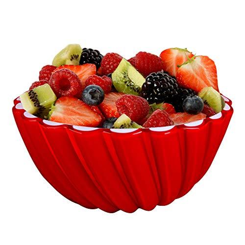 AISHNA Salatschüssel,Küchen Salatschüsseln,Müslischale,Mehrzweck Rührschüssel, Fruit Bowls,Servierschüssel, Plastiksalatschalen,Ice Cream Bowls.Salatschüssel mit lebensmittelechten Materialien(Rot)