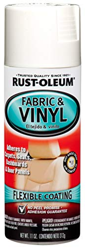 Rust-Oleum 248922 Automotive Enamel Fabric & Vinyl Spray Paint, 11 oz, Gloss White, 11 Ounce