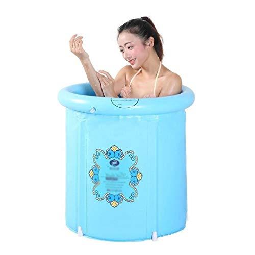 NXYJD Bañera Plegable de plástico Cubo, Espesado Hijos Adultos portátil Baño Barril cómodo y Duradero