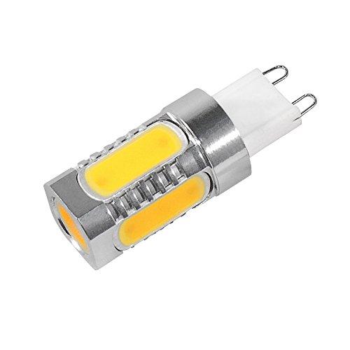 G9 COB LED Leuchtmittel 2.800 Kelvin (Warmweiss) 360 Lumen (ersetzt 40 Watt Halogen) Epistar Chip (8 Stück)