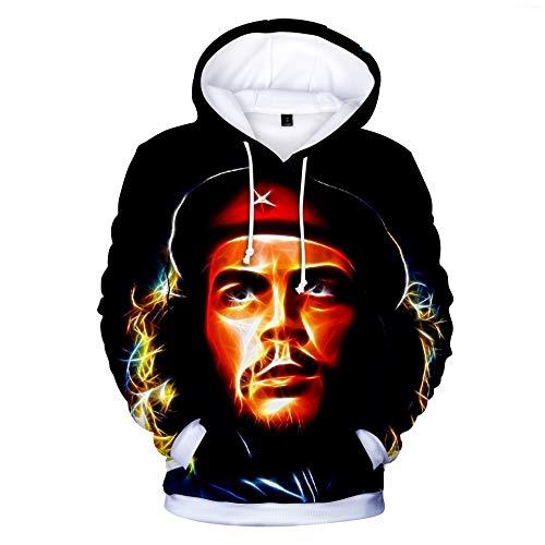 INSTO Sweatshirt Che Guevara Gedruckt Sweatshirt Beiläufig Lose Kapuzenpullover Unisex Einfach Beiläufig / A1 / 4XL