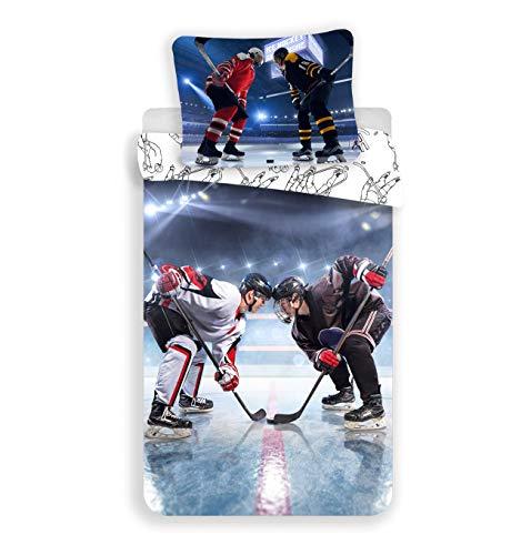 Jerry Fabrics Hockey Eishockey Fan Bettwäsche 140 x 200 cm