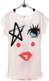 Fashion Women T Shirts Short Sleeve Lady Print T-Shirts Cartoon Tops Cross Tee Lady T-Shirts