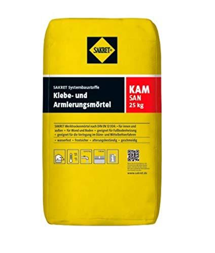 1 Palette (= 42 Sack) Sakret KAM-san Klebe- und Armierungsmörtel (25 kg)