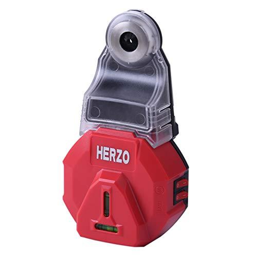 HERZO Bohrlochstaubfänger ausgestattet mit horizontalen vertikalen Luftblasen Lasermarkierungsgerät, zur Positionierung der Innenarchitektur