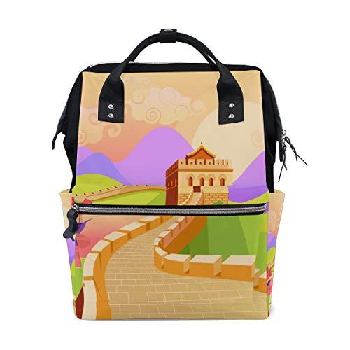 Die Große Mauer Von China Geschichte Große Kapazität Windel Taschen Mummy Rucksack Multi Funktionen Wickeltasche Tasche Handtasche Für Kinder Babypflege Reise Täglichen Frauen
