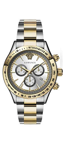 Versace Herren Analog Quarz Uhr mit Edelstahl Armband VEV7005 19