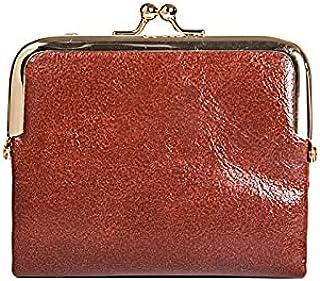 Wangyueey محفظة جلدية بو صغيرة بمشبك للسيدات حقائب محمولة للأموال أنثى حامل بطاقة السعة المتوقع (اللون: بني)