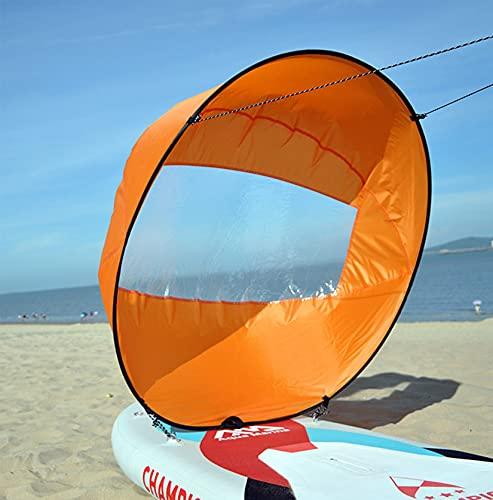 HAN XIU Large 42'Kayak Bail Downwind Kit, Popup Board Wind Sail Kayak con Ventana Clara, Fácil Configuración Y Despliegue Rápido para Canoas De Kayaks Y Bote Inflable