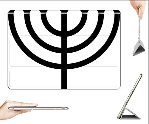 Case for iPad Pro 12.9 inch 2020 & 2018 - Menorah Jewish Candle Judaism Hebrew Holiday