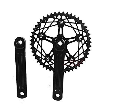 Fixie Bielas de Bicicleta de una Sola Velocidad, 170 mm, para Bicicleta 130 BCD con Rueda de Cadena 48T, Accesorios para Bicicleta, Bicicleta de Pista, Bicicleta de Engranaje Fijo