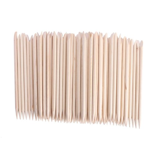 Adecco LLC Orange Sticks for Nails,Wooden Cuticle Sticks, Manicure Sticks Pedicure Tool 110mm (50P)