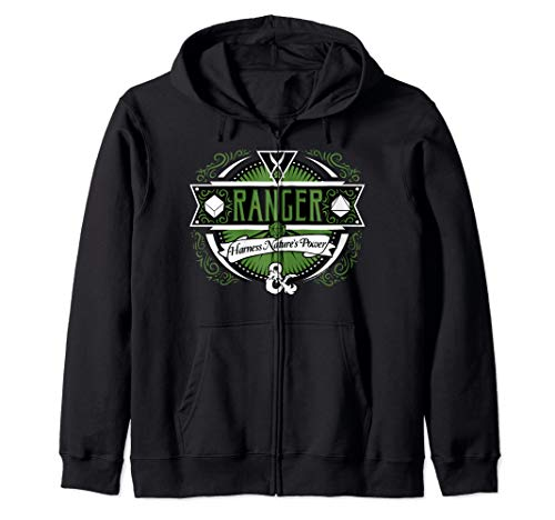 Dungeons And Dragons Ranger Harness Nature's Power Logo Zip Hoodie