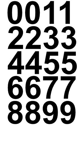 2' Inch Premium Mailbox Number Vinyl Decal Sticker Sheet (Black) | Waterproof and Fade-Resistant | Easy to Install Adhesive Vinyl Digits | Home, Apartment, Condo or Business by CustomDecal US