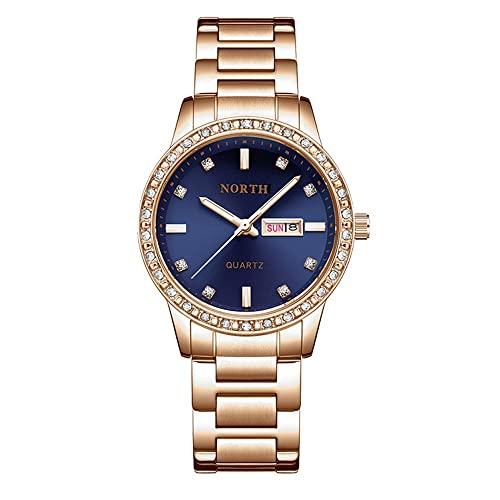 SCIDS Top Luxury Womens orologi al quarzo moda orologio da polso data luminosa impermeabile ragazze regalo moglie orologio (colore: C-2)