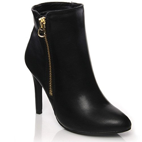Unze Robe' Womens Smart Ankle Boots with Zip Closure – Y1101-422