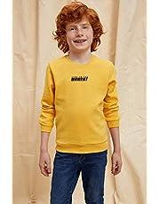 DeFacto Yazı Baskılı Sweatshirt Erkek çocuk Sweatshirt