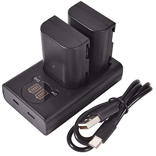 DSTE DMW-BLF19E DMW-BLF19PP Batería Recargable (Paquete de 2) y Cargador USB Dual LED Inteligente compatibles con Panasonic Lumix DMC-GH3 DMC-GH3A DMC-GH3GK DMC-GH3H DC-G9GK-K
