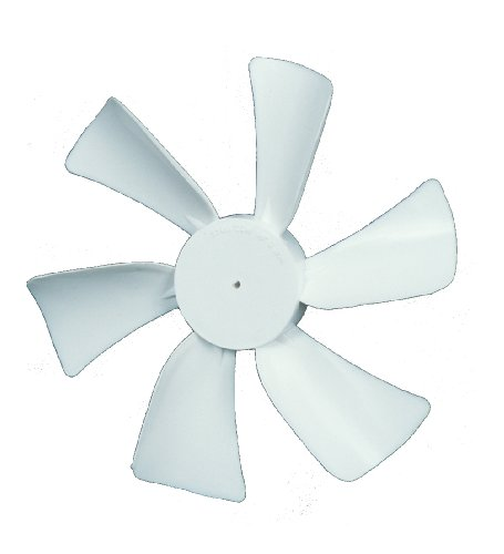 """Ventmate 65491 White 6"""" Replacement Ventline Fan Blade with 0.094"""" Round Bore"""