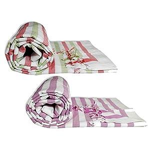 Riyashree Organic Cotton Silky Soft Bhagalpuri Dull chadar lite Blanket & Duvet ( 52*94 in ) Combo Pack of 2 Dull 14 15