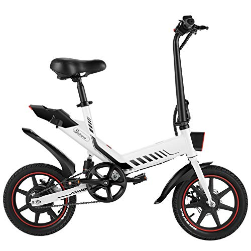 Electric Bicycle, Sailnovo 14'' Electric Bike for Adults and Teenagers with...
