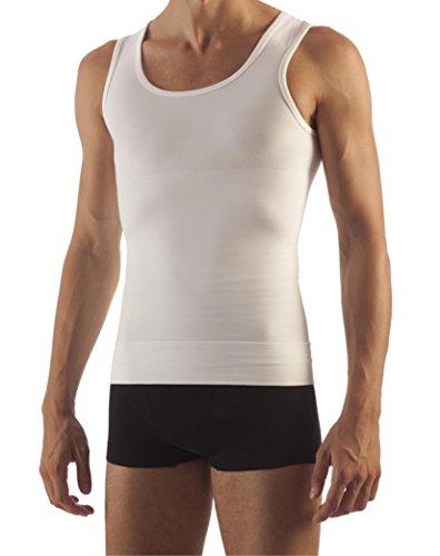 Body&Co Canotta Uomo Modellante e Contenitiva con Fascia Addominale e Aloe Vera