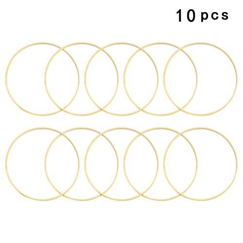 VOSAREA 10 Stück Traumfänger Ring Holz Hoops Makramee Ringe für Traumfänger Kinder DIY Handwerk Makramee, Ringe für Traumfänger, Ring Basteln Mobile 15 cm