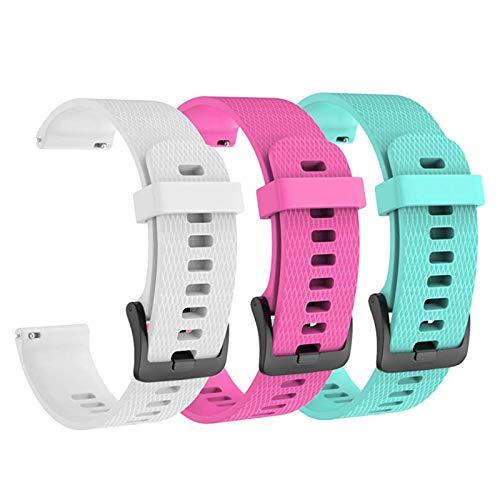 Isabake Correa para Garmin Vivoactive 3 / Vivoactive 3 Music/Vivomove/Vivomove HR - Reemplazo de Silicona Suave de 20 mm para el Reloj Garmin, Talla única para Todos (3 Piezas)