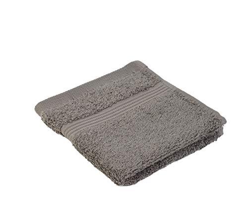 Gözze lot de 4 essuies-mains antharcites 30x30 cm , 100% coton, excellente qualité 550 g/m², moelleux et utra doux Standard 100