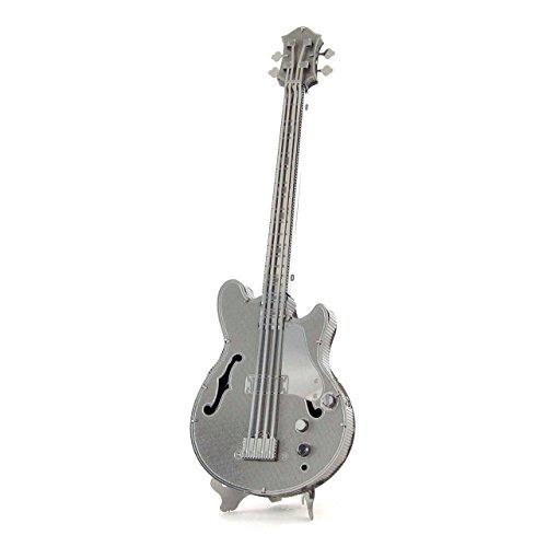 Fascinations Metal Earth MMS075 - 502732, Electric Bass Guitar, Konstruktionsspielzeug, 1 Metallplatine, ab 14 Jahren