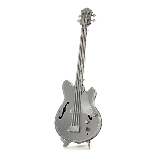Fascinations Metal Earth MMS075 - 502732, Electric Bass Guitar, Konstruktionsspielzeug, 1 Metallplatine, ab 14 Jahren