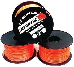 Fio De Nylon Quadrado 2,7mm Laranja Para Roçadeira 1kg