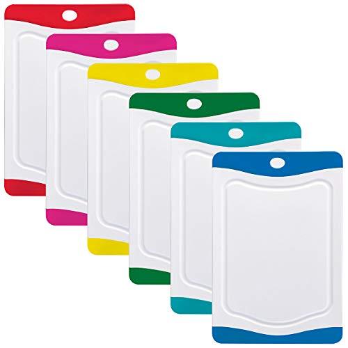 Rosenstein & Söhne Brettchen: 6er-Set Schneidebretter in 6 Farben, antibakteriell, je 20 x 15 cm (Schneidbretter)