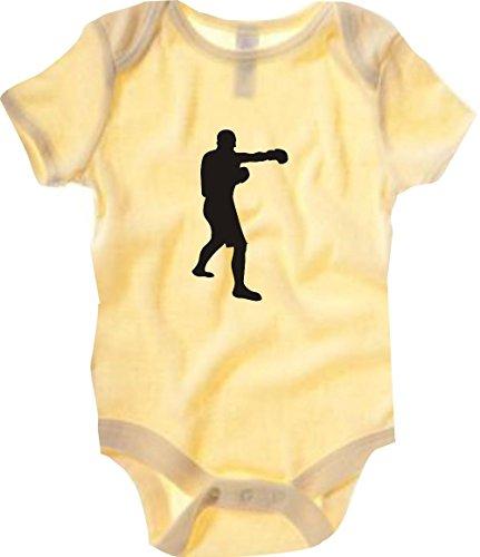 Unbekannt Krokodil Baby Body Boxen Boxer WBA WBO Klitschko Farbe gelb, Größe 6-12 Monate