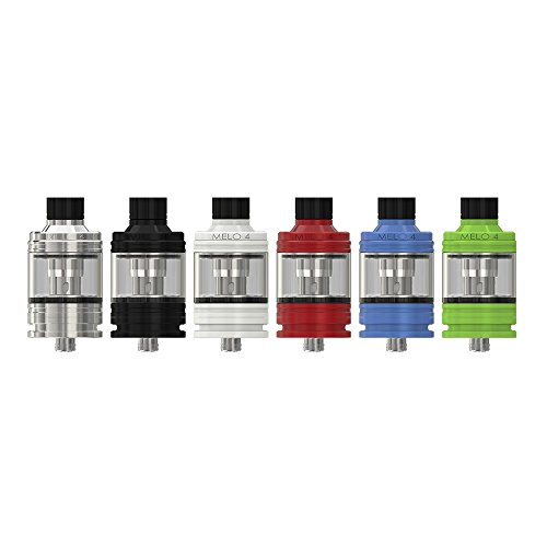 Eleaf - Atomizador Melo 4 D25 - 4.5 ml - Color: Plata - Sin tabaco ni nicotina