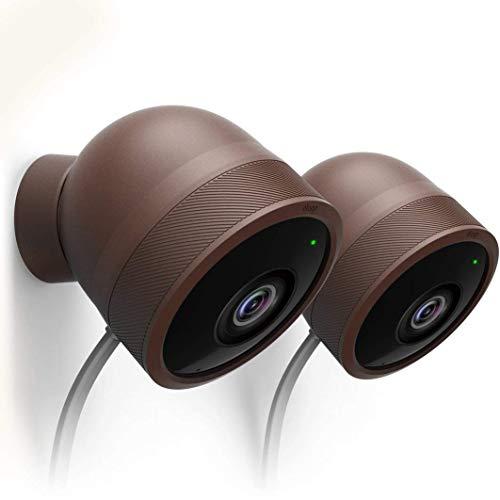 elago Schutzhülle für Google Nest Cam, für den Außenbereich, wetterfest, inkl. Adapterabdeckung, Schutz, Verblenden, einfache Installation, dunkelbraun, Full Package X 2 Set