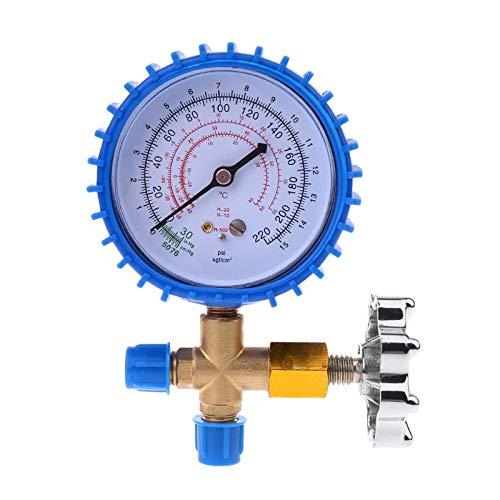 YINGGEXU Medidor de presión de 220PSI 500PSI Aire Acondicionado Refrigerante Recarga de Recarga Manómetro Manómetro (Color : Blue)