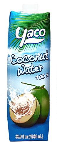 [ 1000 ml ] YACO Kokosnusswasser 100% / Kokoswasser Coconut Water 100% Natural